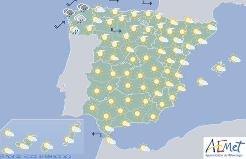Hoy en España, viento fuerte en Cantábrico y valle del Ebro