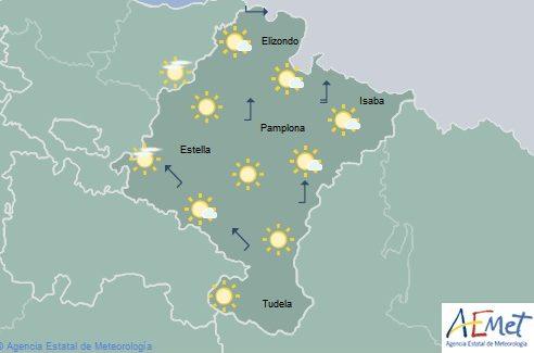 Descenso acusado de temperaturas en Navarra, cota de nieve entre 1600 y 1800 metros