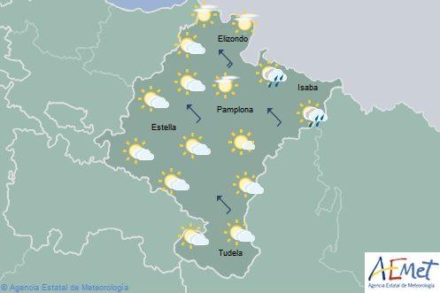 En Navarra aumento de las temperaturas con nubosidad de evolución