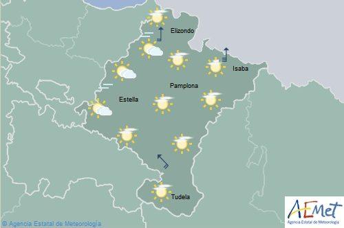 Nubosidad de evolución con lluvias en el norte de Navarra