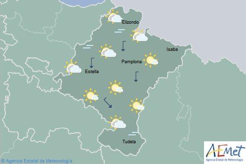 En Navarra poco nuboso aumentando a intervalos de evolución