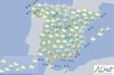 Hoy en España, tormentas fuertes en Tarragona, Levante y Andalucía