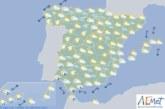 Hoy en España, precipitaciones localmente fuertes en Canarias