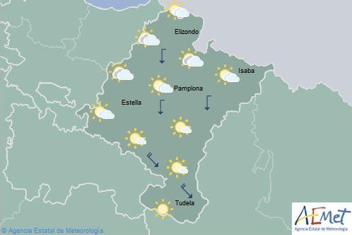 En Navarra cielo tendiendo a poco nuboso o despejado, temperaturas con pocos cambios