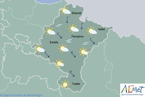 Ligero aumento de las temperaturas en Navarra