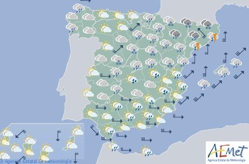 Hoy en España persiste la inestabilidad, con tormentas muy fuertes en el sur