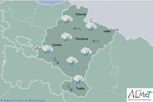Lluvias generalizadas en Navarra con nieve en los Pirineos