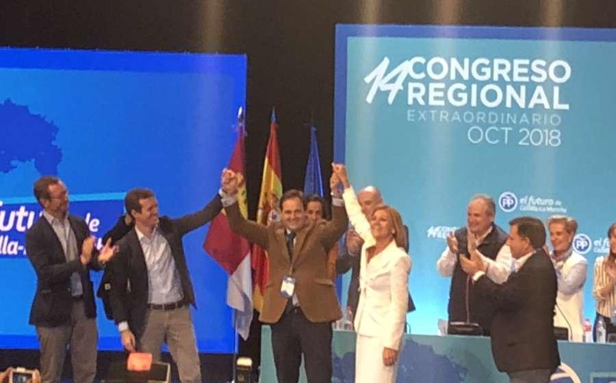 Núñez sucede a Cospedal al frente del PP de CLM con el 92,8 % de los votos