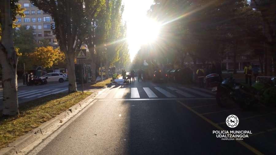 Dos personas, heridas graves al ser atropelladas en Pamplona