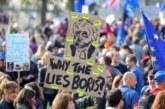 """Una multitudinaria protesta en Londres pide un nuevo referéndum del """"brexit"""""""