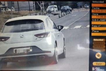 Sorprendido un conductor a 130 km/h en una travesía de 50 en Villatuerta