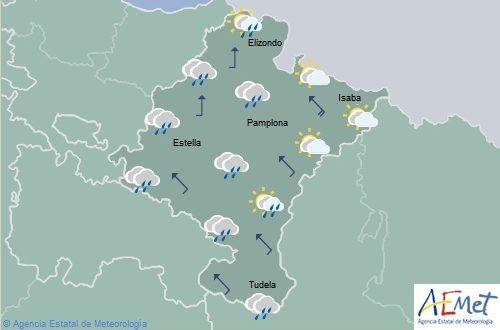 Lluvias y chubascos generalizados en Navarra con temperaturas máximas en descenso