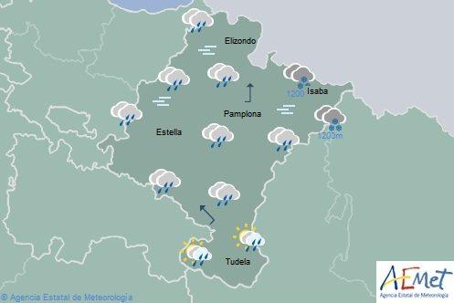 Rachas muy fuertes de viento al final día en Pirineo y vertiente cantábrica en Navarra