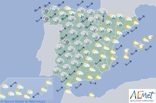 Hoy en España, lluvias en el norte y ascenso de las temperaturas en el interior y Baleares