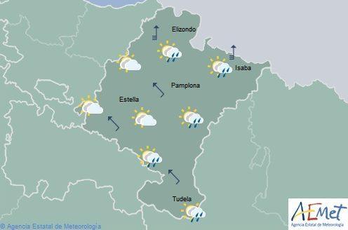 Nuboso tendiendo a intervalos nubosos en Navarra