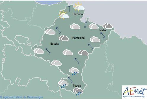 En Navarra chubascos ocasionales y temperaturas máximas sin cambios