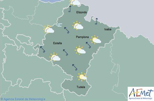 En Navarra aumento de nubosidad temperaturas en ligero ascenso