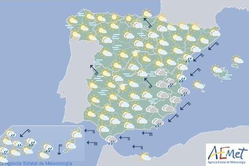 Hoy en España, precipitaciones en Málaga, Gerona, Valencia y Murcia