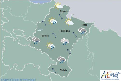 En Navarra temperaturas en descenso, nieve bajando a 1300-1500 m. en Pirineos