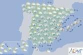 Hoy en España, cielos nubosos y lluvias fuertes en Comunidad Valenciana y Baleares