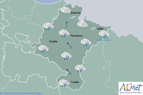 En Navarra cubierto, cota de nieve entre 1400-1500 y temperaturas máximas en descenso