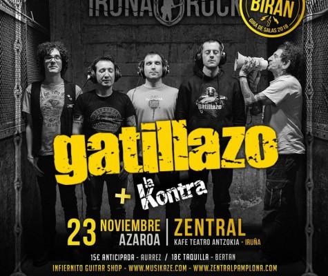 AGENDA: 23 de noviembre, en Zentral Café, GATILLAZO + LA KONTRA