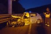Un conductor herido en una colisión frontal contra un camión en Sarasate