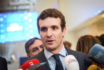 Casado:»Hoy damos el primer paso para la recuperación del Gobierno de España»