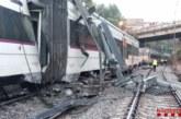 Un muerto y seis heridos por el descarrilamiento de un tren en Vacarisses (Barcelona)