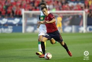 Íñigo Pérez regresa a la convocatoria de Osasuna tras siete jornadas