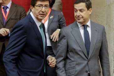 Juanma Moreno gobernará en Andalucía en coalición con Cs y apoyado por Vox