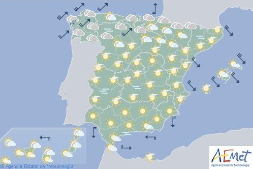 Hoy en España, cubierto con viento fuerte en Galicia
