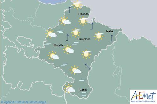 Brumas y niebla en Navarra, temperaturas con pocos cambios