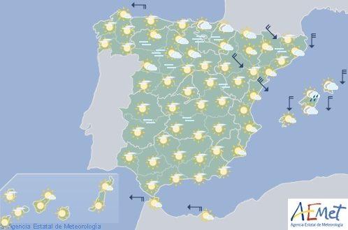 Hoy en España, niebla en la Meseta Norte e intervalos de viento fuerte en el Ampurdán