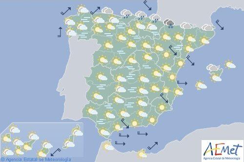 Hoy en España, viento fuerte en el litoral de Galicia