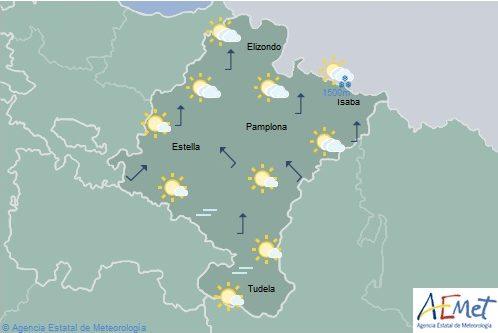 En Navarra precipitaciones débiles en el Pirineo temperaturas sin cambios