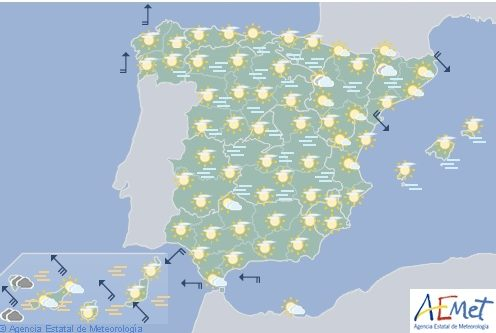 Hoy en España, densas nieblas en el centro y poco nuboso en el resto