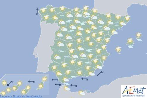 Hoy en España, nieblas en las dos mesetas y entorno del Ebro