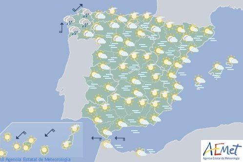 Hoy en España, nieblas en las dos mesetas y depresiones del nordeste, temperaturas sin cambios