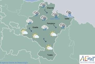En Navarra cubierto con precipitaciones persistentes en la vertiente cantábrica