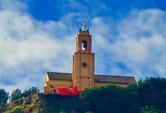 Banderazo: La gran bandera de Navarra llega a Falces
