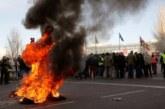 Once heridos y un detenido en las protestas del taxi en Madrid, que seguirán en huelga de forma indefinida
