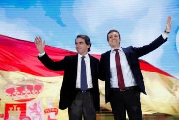 Aznar vuelve a pedir el voto para la «casa común» que representa el PP