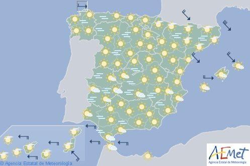 Hoy en España, temperaturas bajas en ambas mesetas y niebla engelante en el Duero