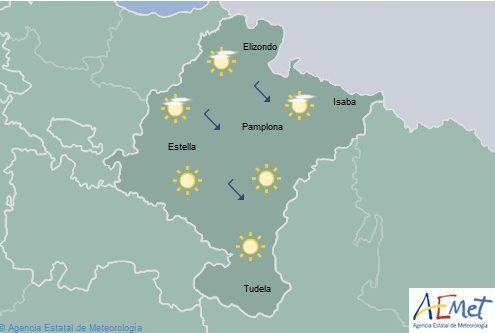 En Navarra cielo poco nuboso, temperaturas con cambios ligeros