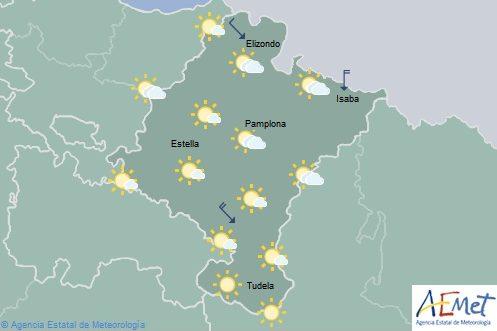 En Navarra poco nuboso y temperaturas con ligeros cambios