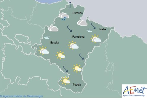 En Navarra temperaturas en ascenso con nieve en el Pirineo