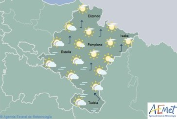 Poco nuboso o despejado en Navarra, temperaturas en descenso