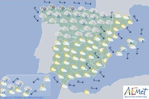Hoy en España, intensas nevadas y lluvias en la mitad norte peninsular