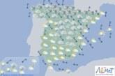 Hoy en España precipitaciones persistentes en el Cantábrico, nieve en Pirineos y sistema Ibérico